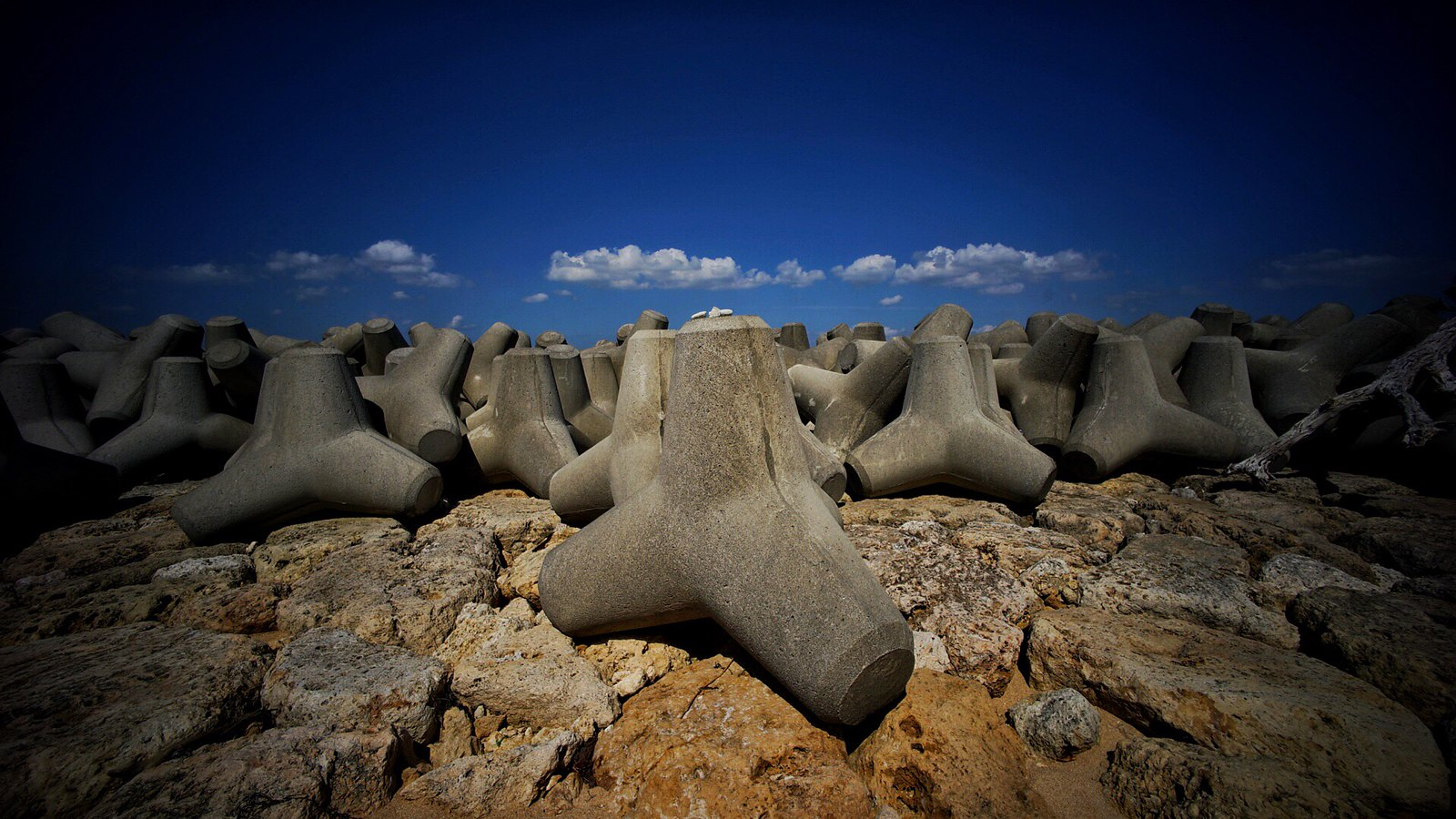 Attack of the Tetrapods! #SonyA7 #Voigtlander12mm #UltraWideAngle #Okinawa #japan15 #foto
