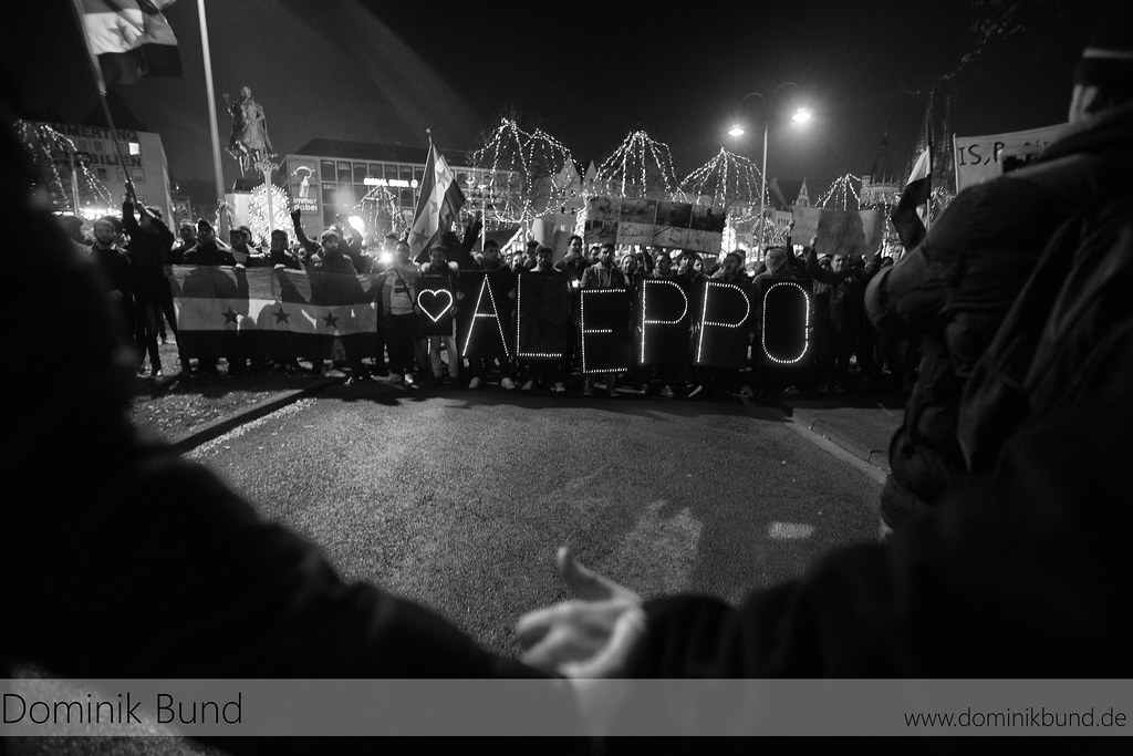 Demonstration für die Opfer von Aleppo