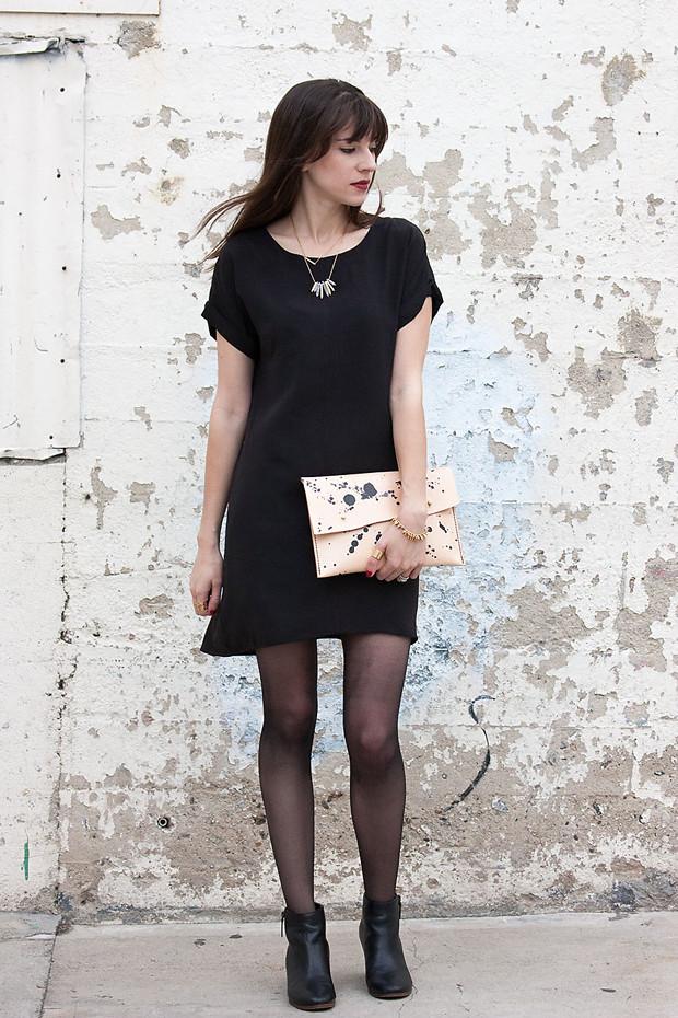 Everlane Dress, Black Silk Dress, Walter & George