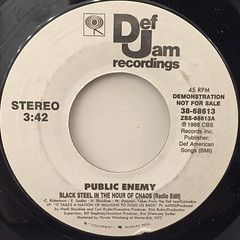 PUBLIC ENEMY:BLACK STEEL IN THE HOUR OF CHAOS(LABEL SIDE-A)