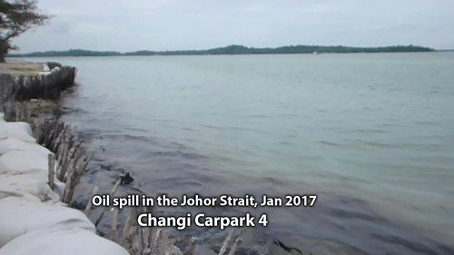 Oil spill in the Johor Strait (4 Jan 2017) from Changi Carpark 4