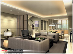 Private Living Room Rendering | by Singapore 3D Interior Design Rendering