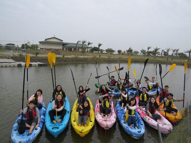 20161216台江黑琵遊體驗獨木舟活動