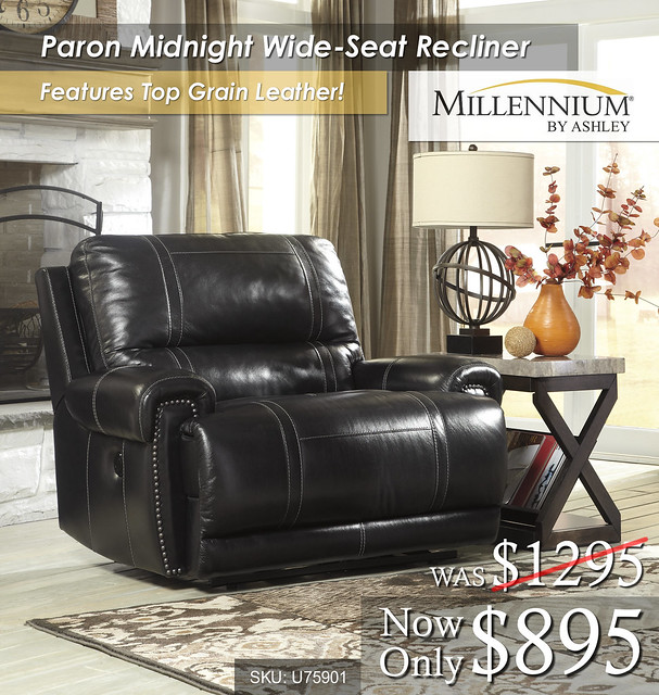Paron Midnight wide seat recliner U75901-82