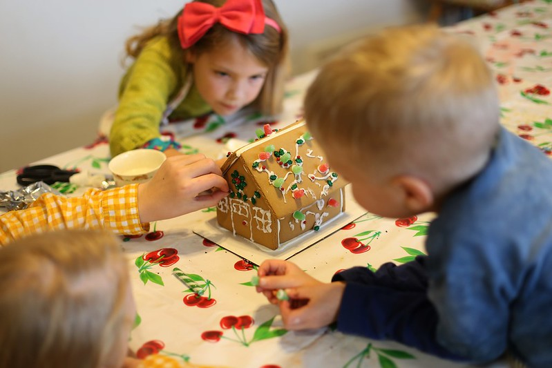 their first gingerbread house