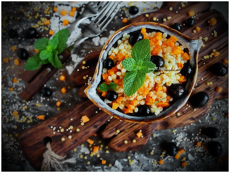 ...ptitim salad pumpkin and black grapes_