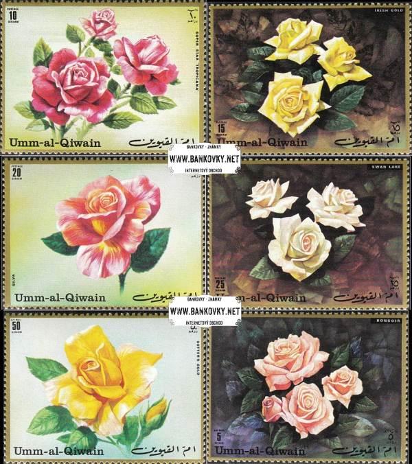 Známky Um al Kaiwain 1972 Ruže, nerazítkovaná séria