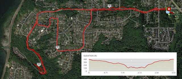 Today's awesome walk, 3.5 miles in 1:20, 8,320 steps, 339ft gain