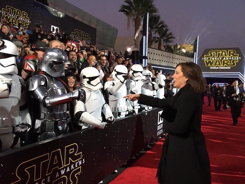 Ingrid Moon as Phasma at Premiere