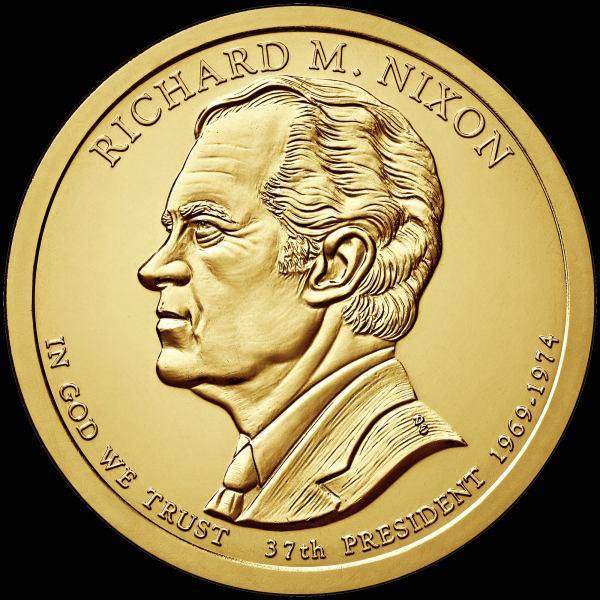 *Prezidentský 1 dolár USA 2016 D, 37. prezident Richard M. Nixon