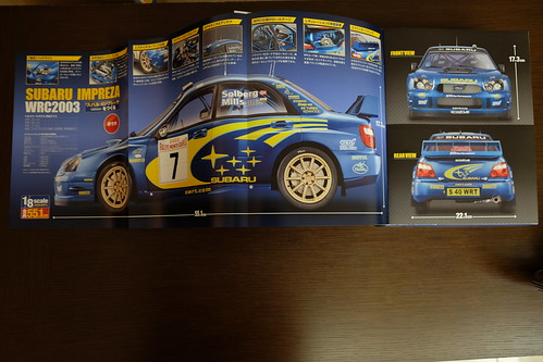 Subaru Impreza WRC2003 model Hachette Collections Japan 02