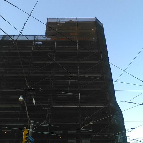 Broadview Hotel and streetcar wires #toronto #broadviewhotel #broadviewavenue #queenstreeteast #streetcar
