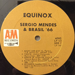 SERGIO MENDES & BRASIL '66:EQUINOX(LABEL SIDE-B)