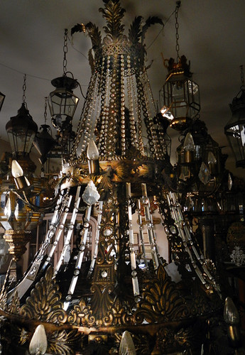 A chandelier in a shop in Toledo, Spain