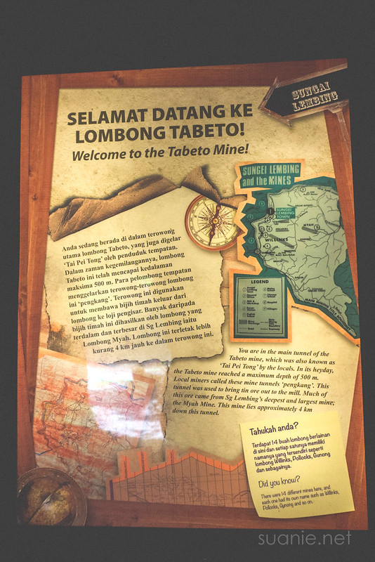 Sungai Lembing Mines - info poster