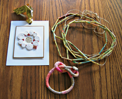 Quilled Christmas Card and Jewelry