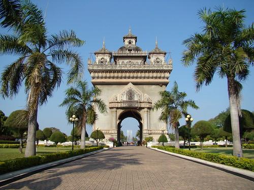 Patuxai (Victory Gate) Vientiane, Laos