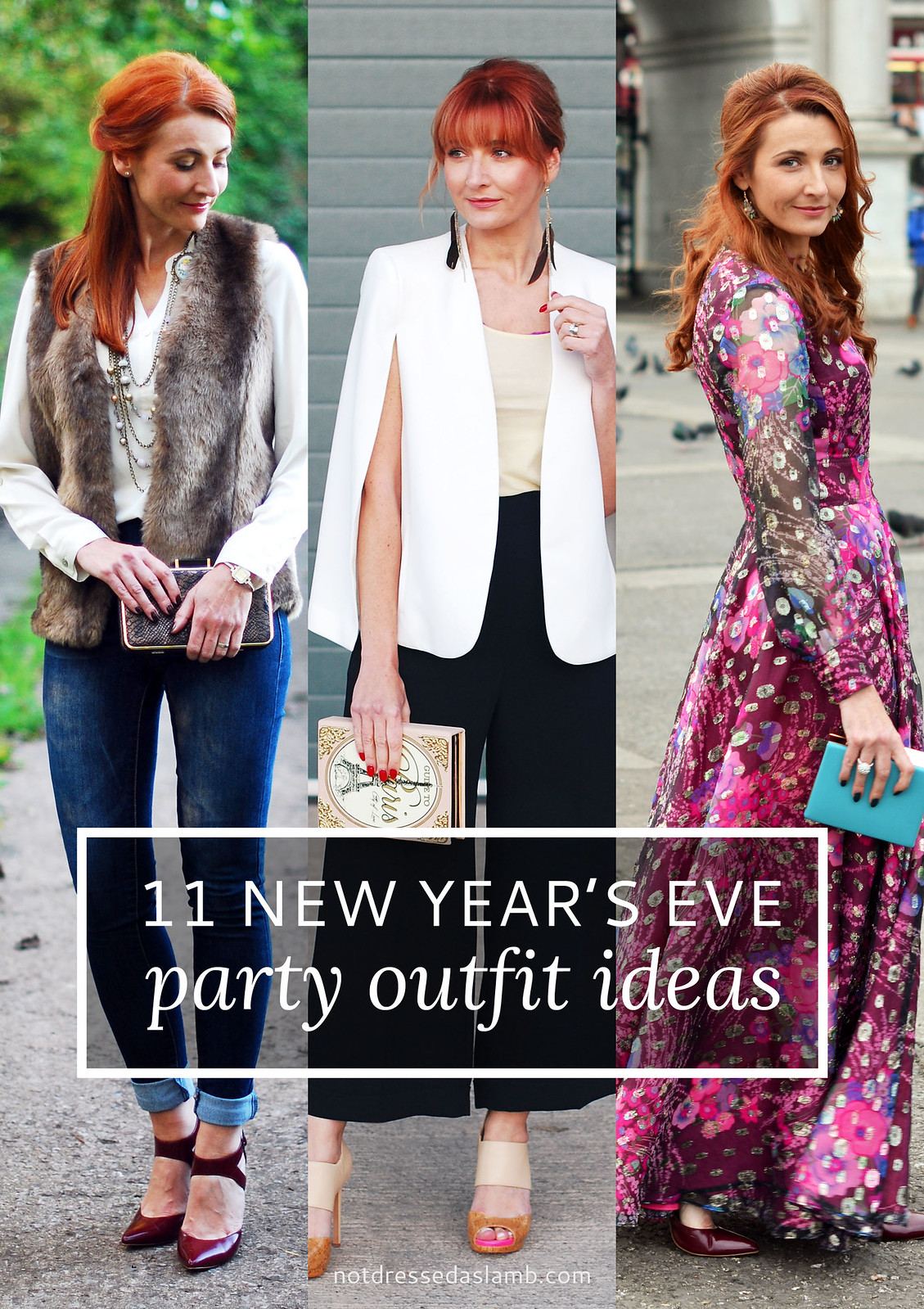 11 New Year's Eve Party Outfit Ideas For Over 40 Women | Not Dressed As Lamb