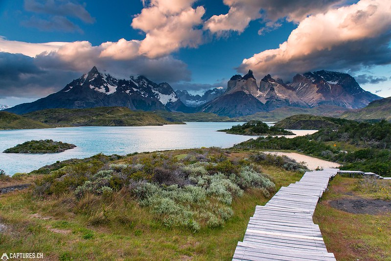 Stairway to the adventure - Torres del Paine