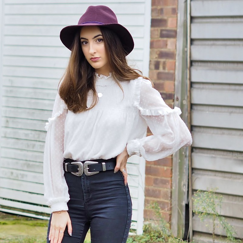 RUFFLE POLO NECK OOTD