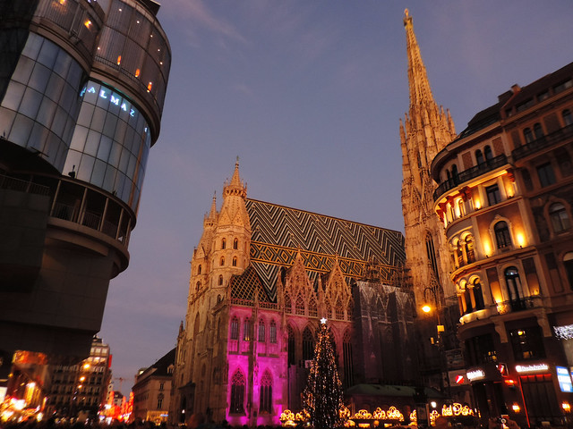 Merry Christmas: Stephansplatz, Vienna, Austria