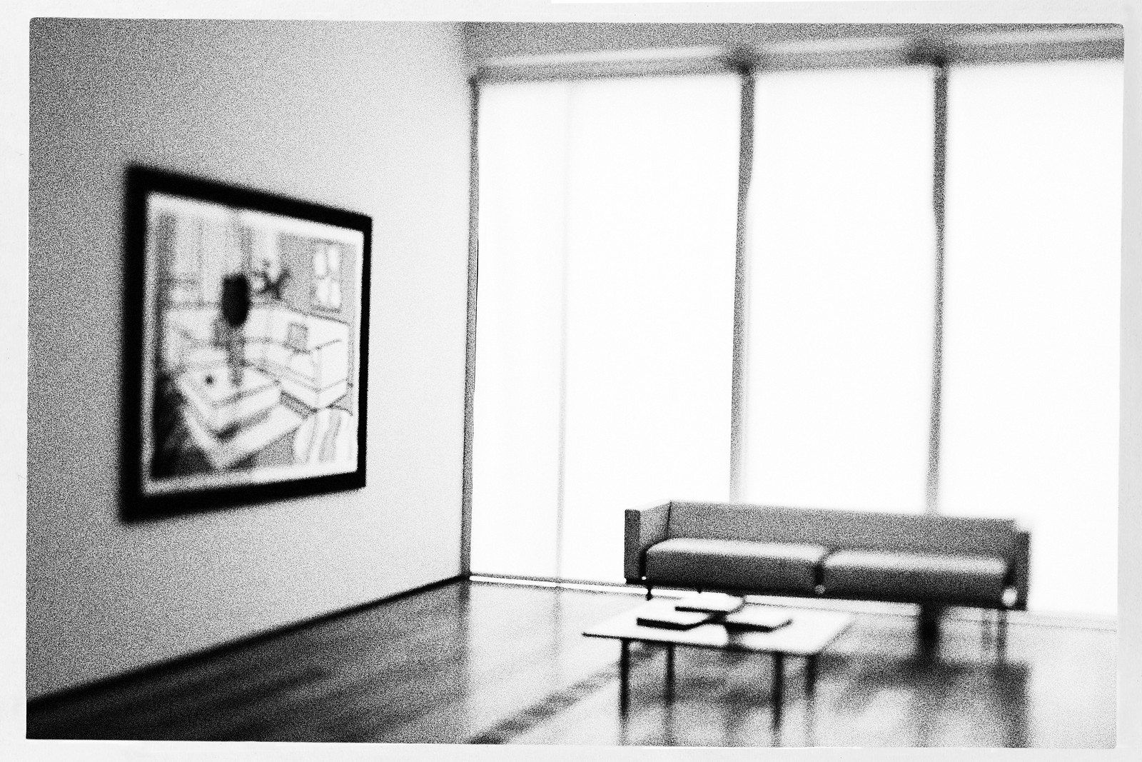 """Seating Not on Exhibit Series, High Museum of Art, With Roy Lichtenstein's """"Yellow Vase"""". 2015."""