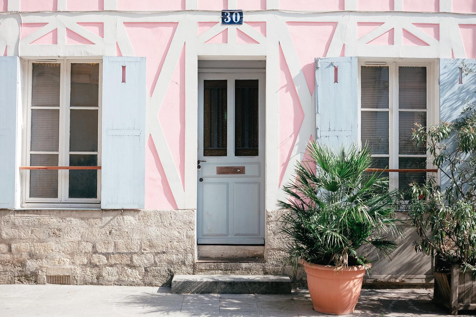 Rue Crémieux in Paris, France