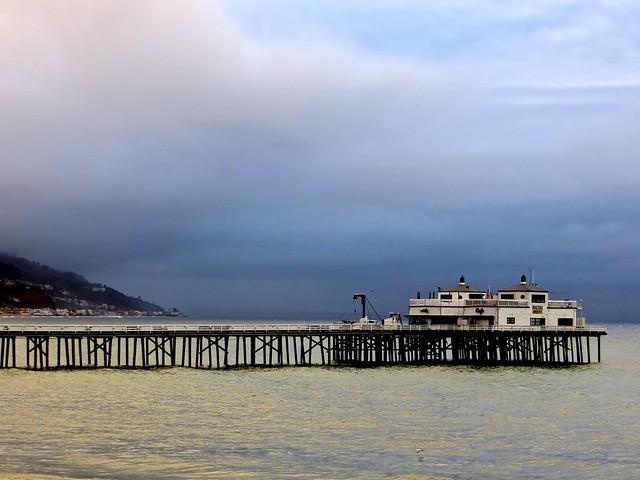 malibu pier after the rain