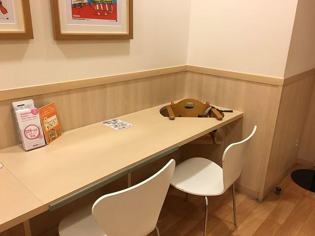 也有內嵌在桌面內、可調整角度的餐椅