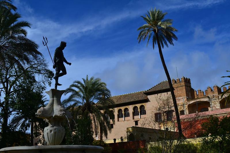 Neptuno en los jardines de el Alcázr de Sevilla
