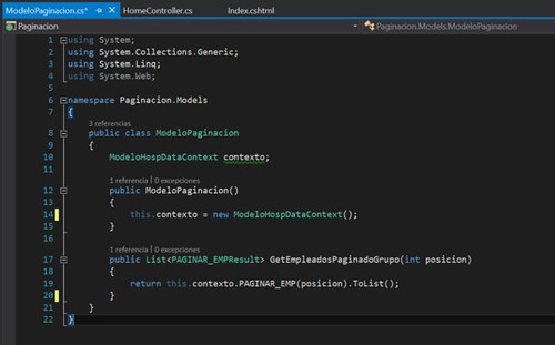 11.Paginación con ASP.NET en Visual Studio modelo-metodo