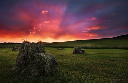 dawn over the fields | by hkvam