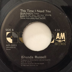 BRENDA RUSSELL:PIANO IN THE DARK(CRY JUST A LITTLE)(LABEL SIDE-B)