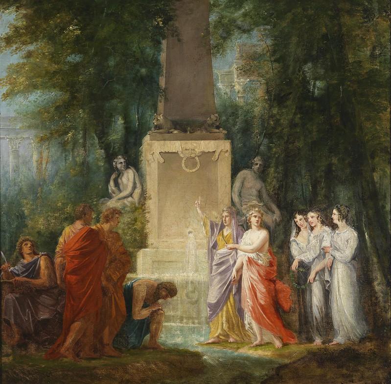 Heinrich Friedrich Füger - Dichter trinken am Kastalischen Quell (c.1790)