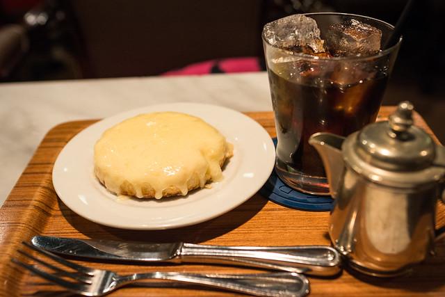 観音屋の名物、デンマークチーズケーキの写真
