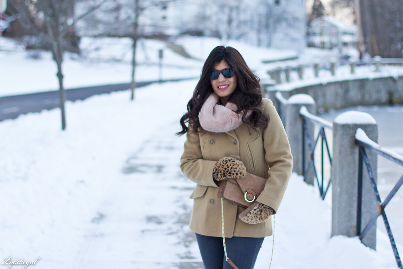 came coat, grey denim, leopard mittens, suede accordion bag-2.jpg