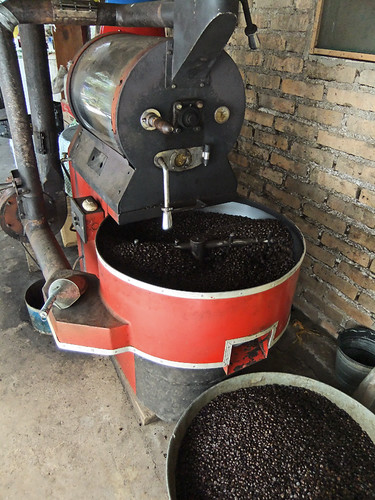 A coffee roaster in San Sebastian, a Pueblo Magico in the state of Jalisco, Mexic