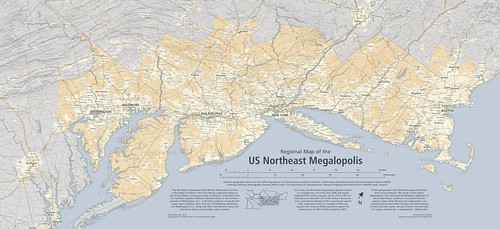 Regional Map of the US Northeast Megalopolis | A regional ...