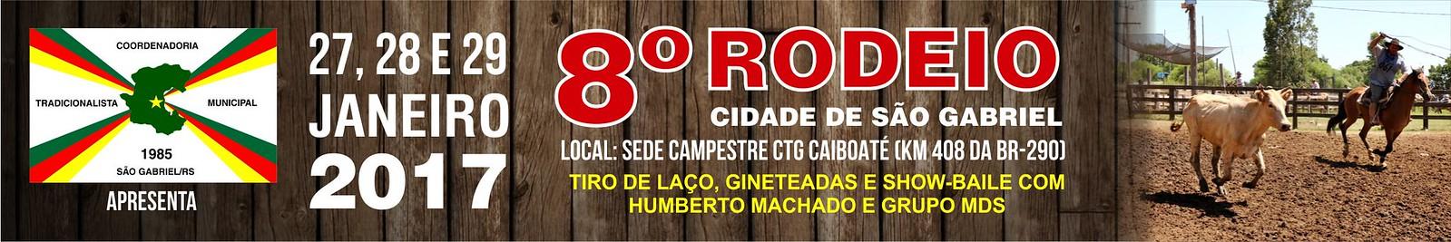 Anúncio 8º Rodeio Cidade de São Gabriel 2017