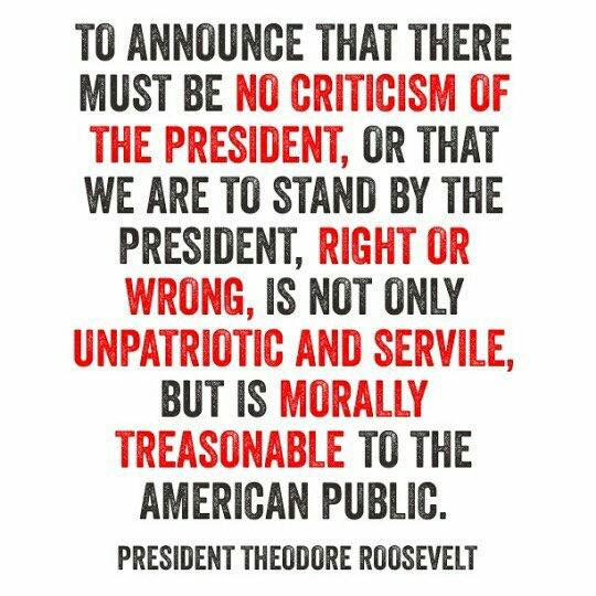 Roosevelt criticism of president treason
