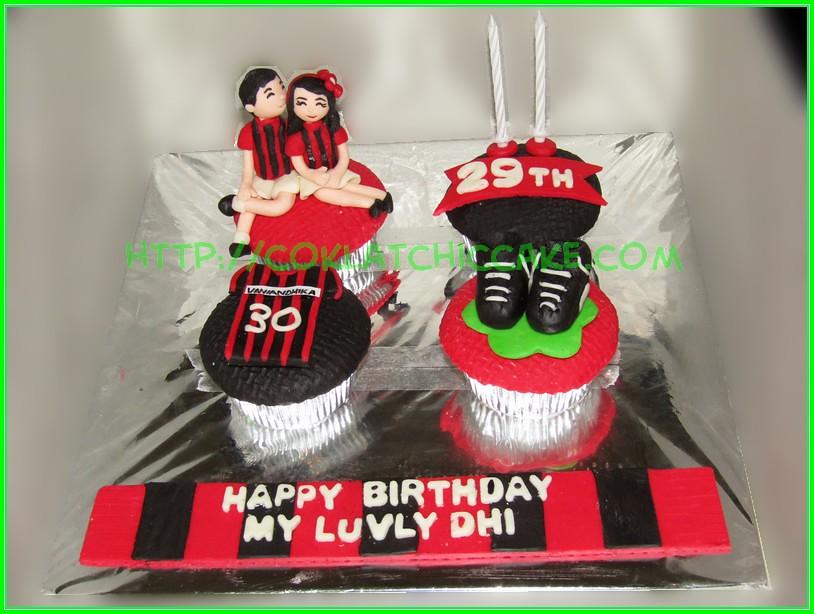 Cupcake set AC Milan