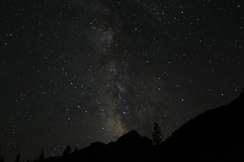 The Milky Way from our campsite at 9200 feet elevation