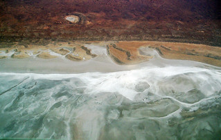 Salt lakes from the air | by Georgie Sharp