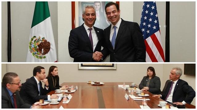 Alcalde de Chicago se reúne con Subsecretario para América del Norte de Cancillería