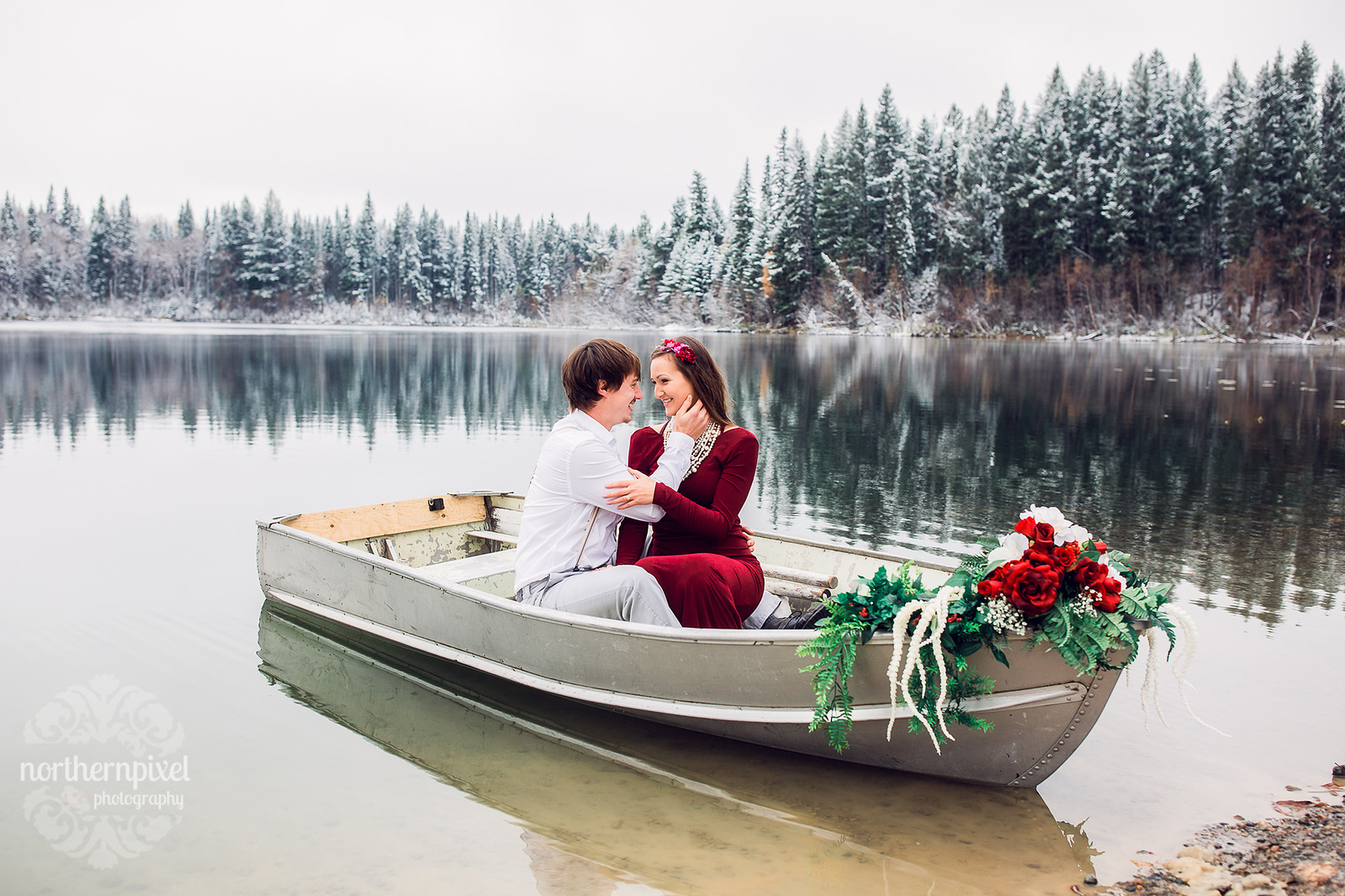 Winter Rowboat Engagement Session, British Columbia Wedding Photographers