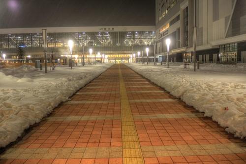 Asahikawa Station in early morning on JAN 03, 2016 (2)