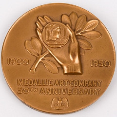 Medallic Art Company 50th Anniversary Medal reverse