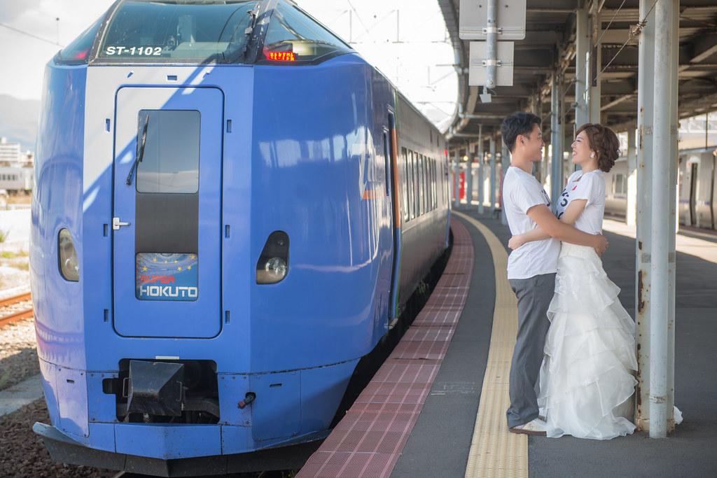 函館JR,super hokuto,日本火車婚紗