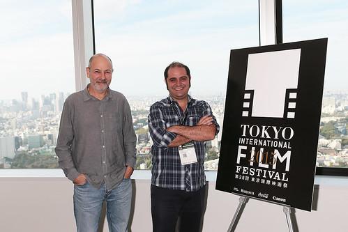 映画『ニーゼと光のアトリエ』ホベルト・ベリネール監督とプロデューサーのホドリーゴ・レチェル ©2015TIFF
