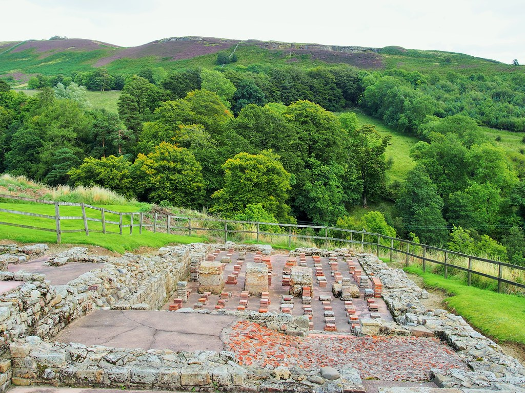 Bath House at Vindolanda Roman Site.